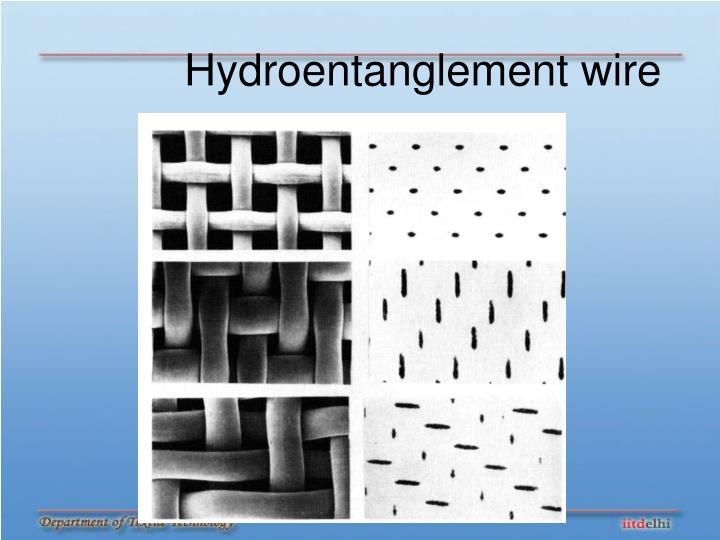 Hydroentanglement wire