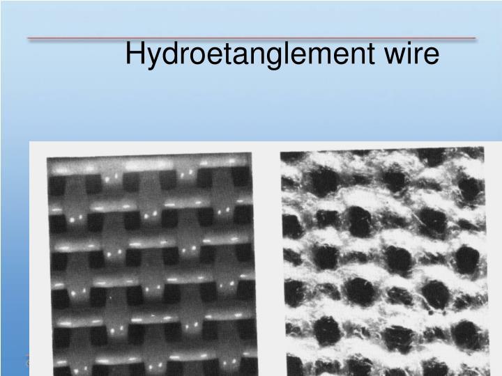 Hydroetanglement wire