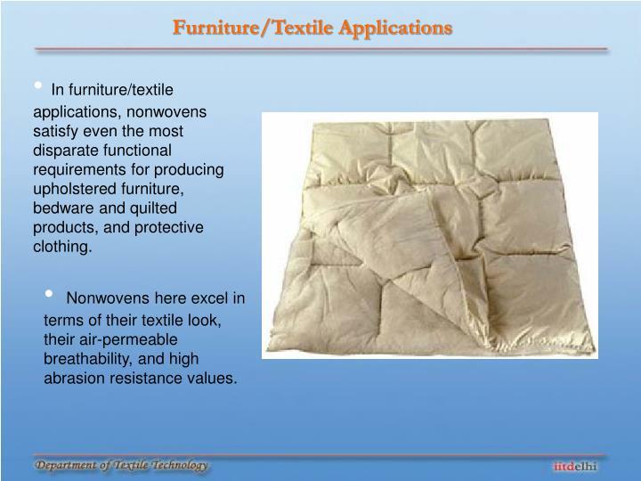 Furniture/Textile Applications