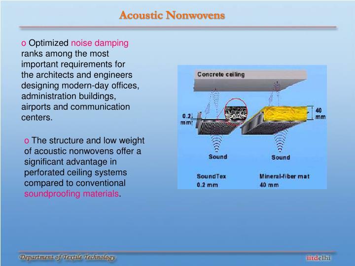 Acoustic Nonwovens