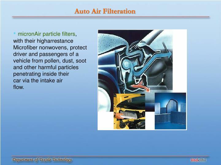 Auto Air Filteration