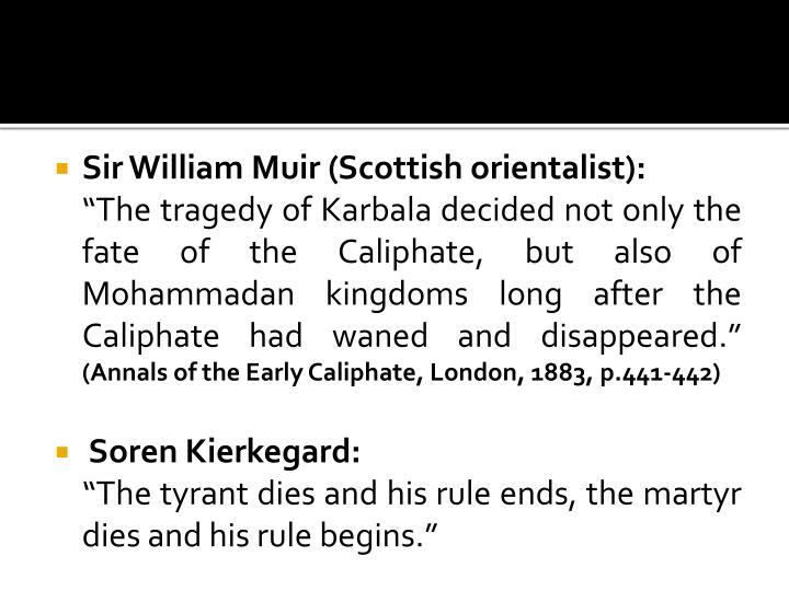 Sir William Muir (Scottish orientalist):