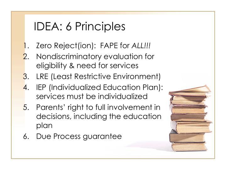 IDEA: 6 Principles