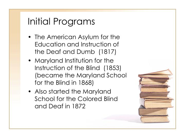 Initial Programs