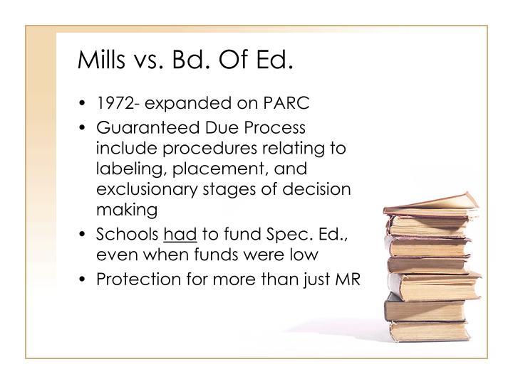 Mills vs. Bd. Of Ed.