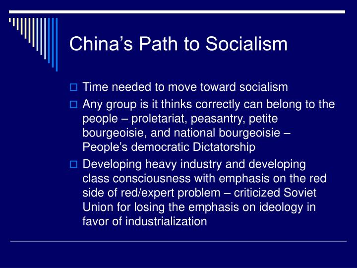 China's Path to Socialism