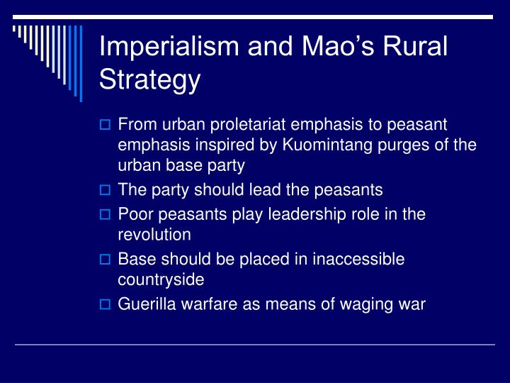 Imperialism and Mao's Rural Strategy
