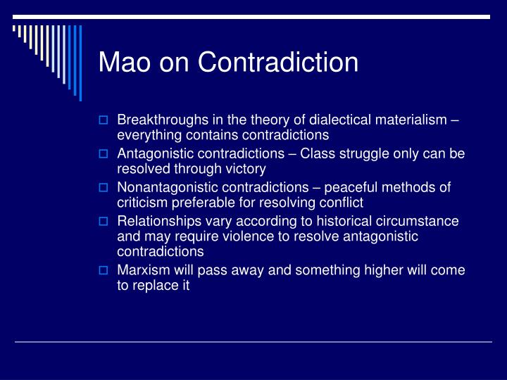 Mao on Contradiction
