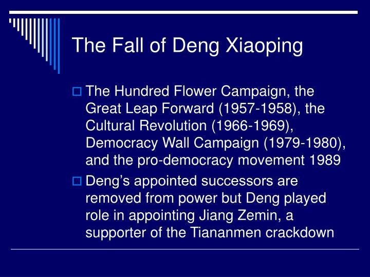 The Fall of Deng Xiaoping
