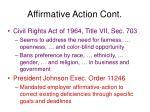 affirmative action cont