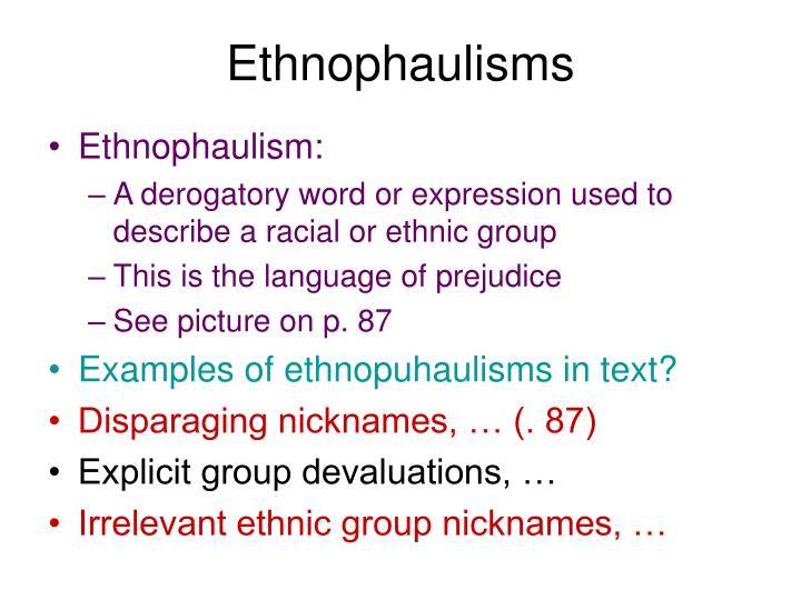 Ethnophaulisms