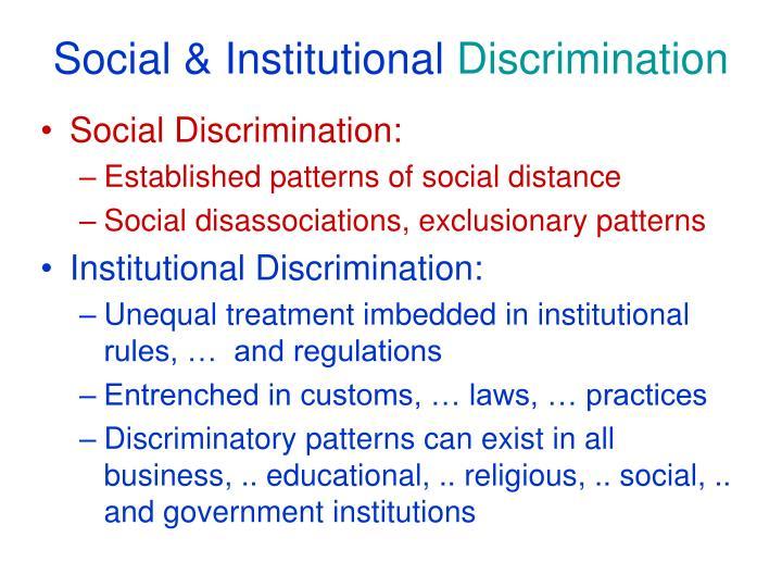 Social & Institutional