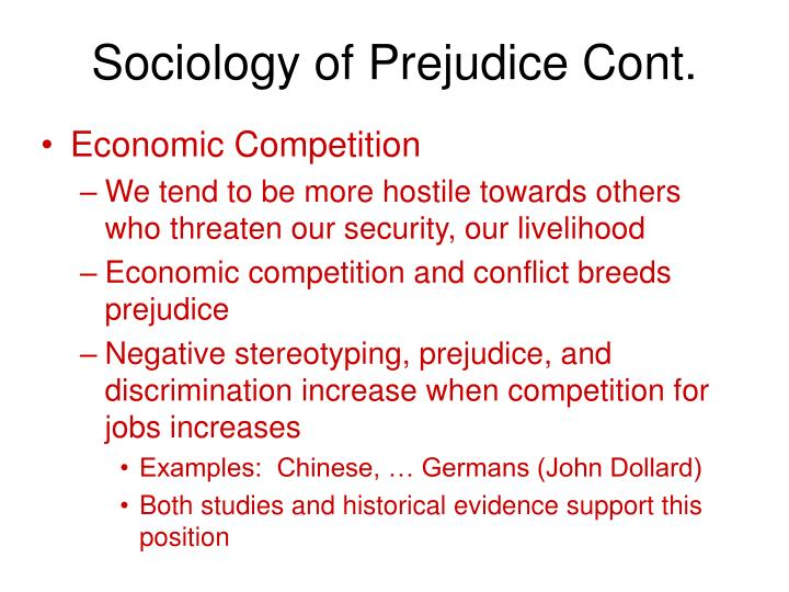 causes of prejudice by vincent n parrillo Analyzing racism: parrillo's concept causes of prejudice by vincent n parrillo examine the psychological sources of prejudice in addition to the sociological.
