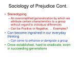sociology of prejudice cont1