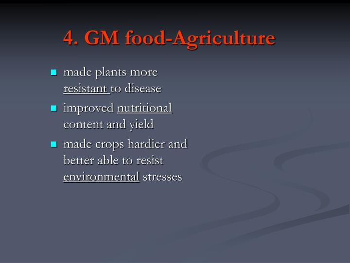 4. GM food-Agriculture
