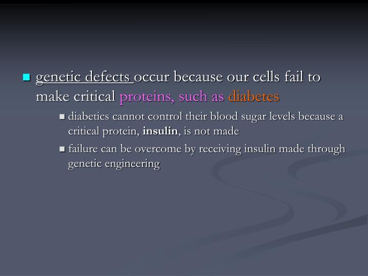 genetic defects