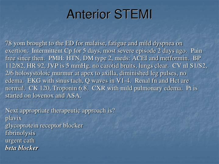 Anterior STEMI