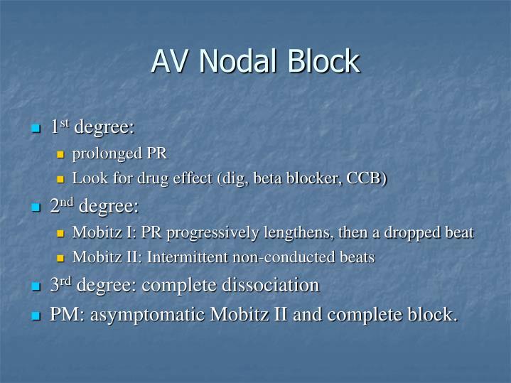 AV Nodal Block