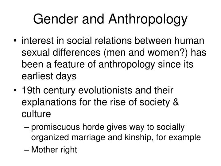 Gender and anthropology