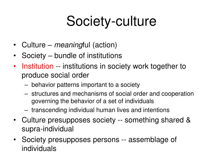 Society-culture
