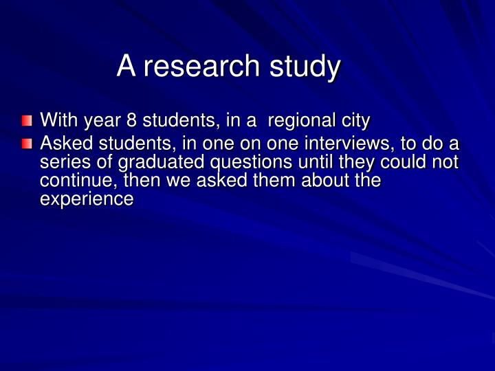 A research study