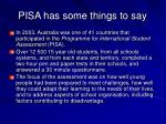 pisa has some things to say