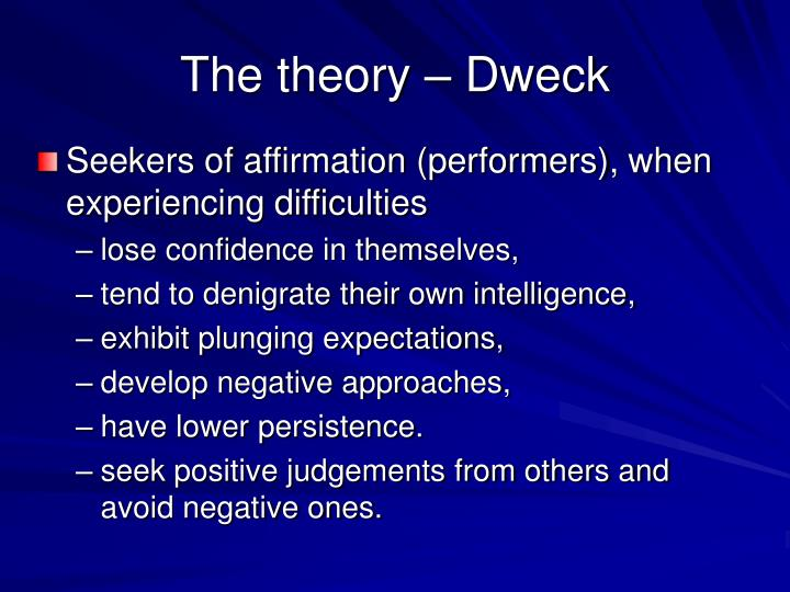 The theory – Dweck