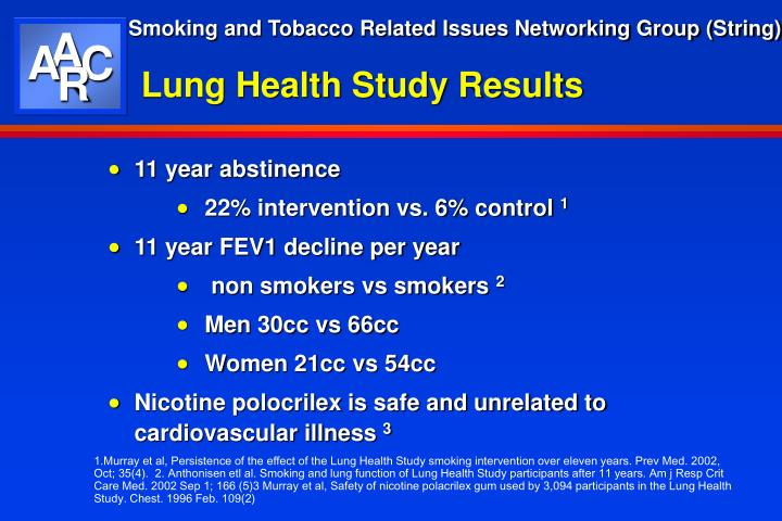Lung Health Study Results