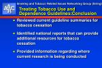 treating tobacco use and dependence guidelines conclusion