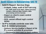 audit issues in outsourcing sas 70