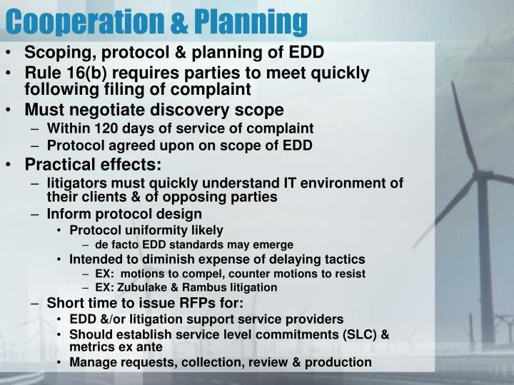 Cooperation & Planning