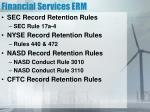 financial services erm