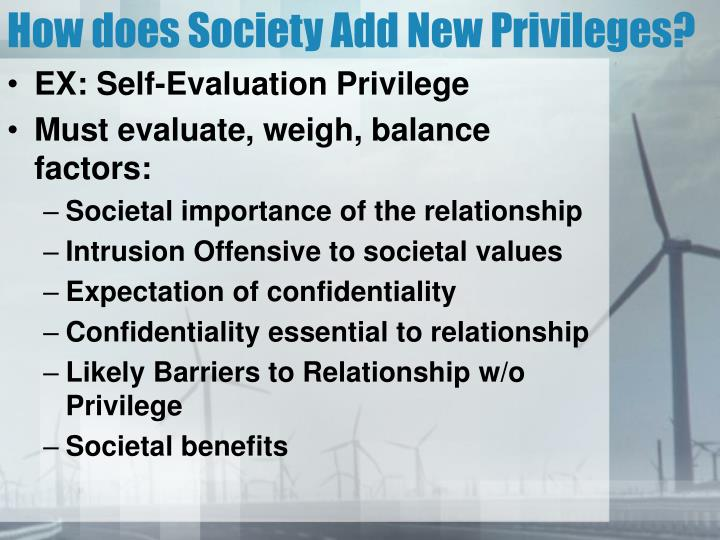 How does Society Add New Privileges?