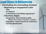 legal issues in outsourcing
