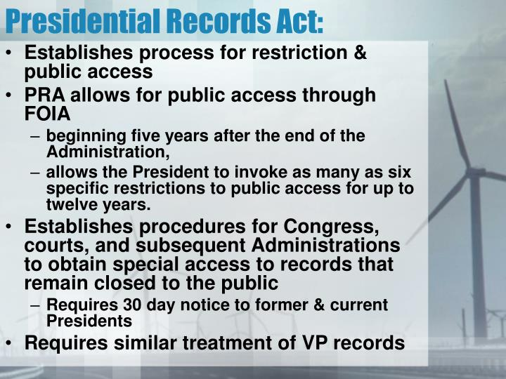 Presidential Records Act: