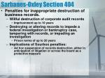 sarbanes oxley section 4042