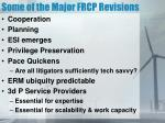 some of the major frcp revisions