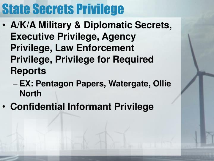 State Secrets Privilege