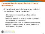 expected family contribution cost of attendance1