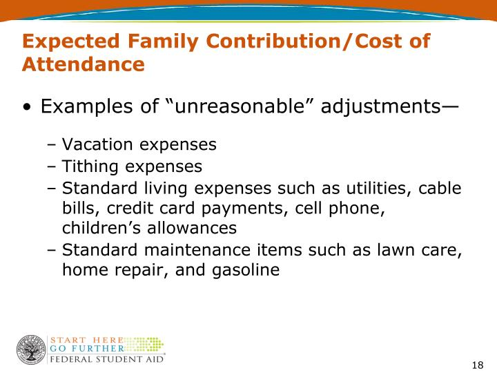 Expected Family Contribution/Cost of Attendance