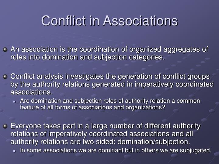 Conflict in Associations
