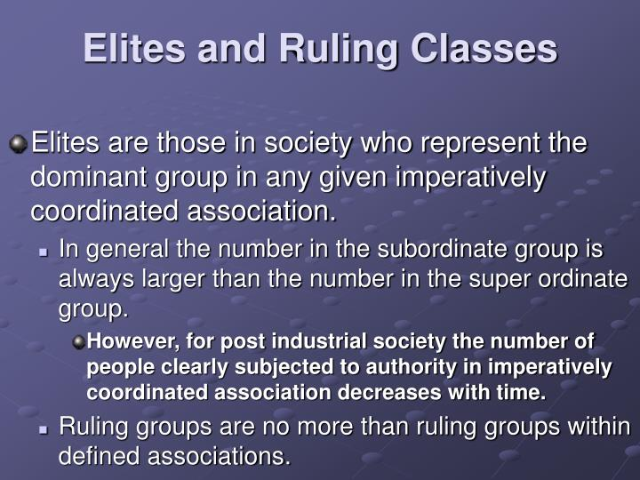 Elites and Ruling Classes