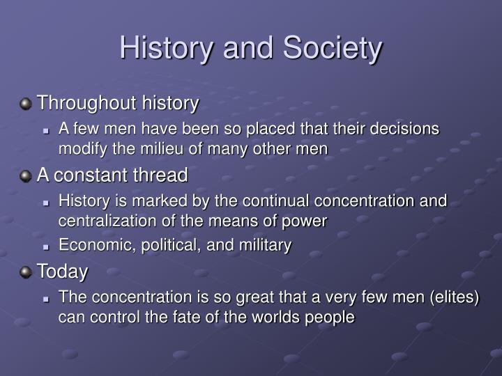 History and Society