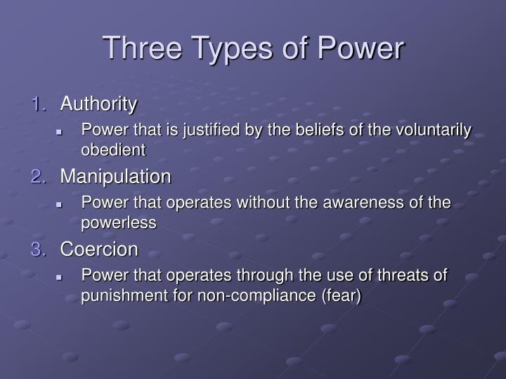 Three Types of Power