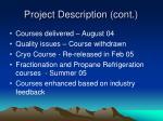 project description cont