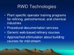rwd technologies