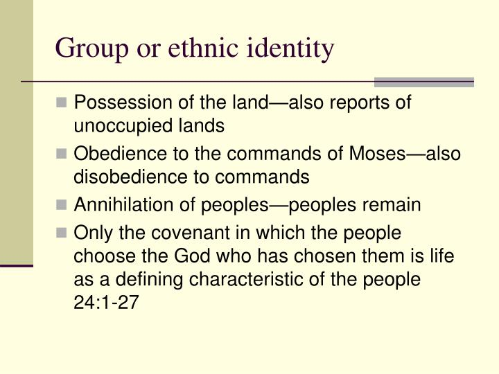 Group or ethnic identity