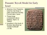 peasants revolt model for early israel