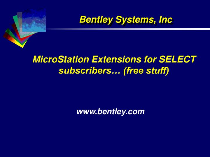 Microstation extensions for select subscribers free stuff