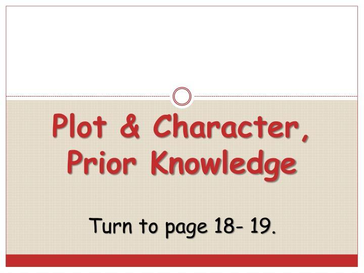 Plot & Character,